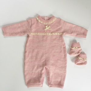 Carriage Boutiques Pink Sweater Coverall 9 Months